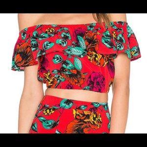 Minkpink red floral set